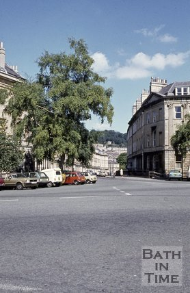 Laura Place looking towards Henrietta Street, Bath, c.1980s
