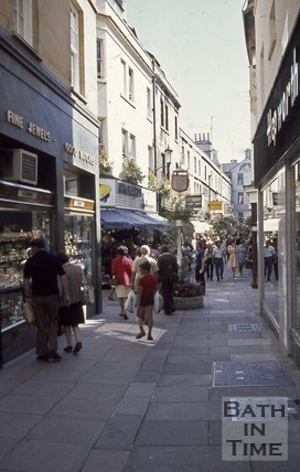Northumberland Place from Northumberland Passage, Bath, c.1970s
