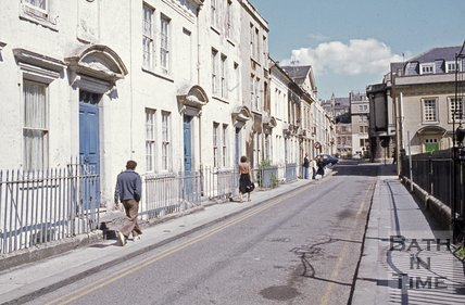 Beaufort Square, Bath looking east, c.1970s