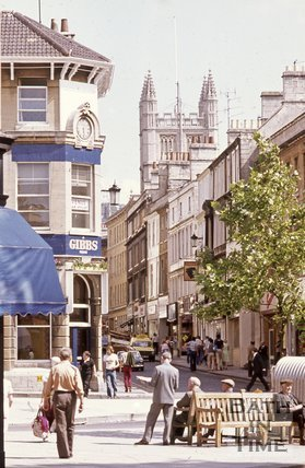 Westgate Street viewed from Kingsmead Square, Bath, c.1970s