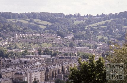 View from Beacon Hill of Prior Park and Bathwick, c.1980s