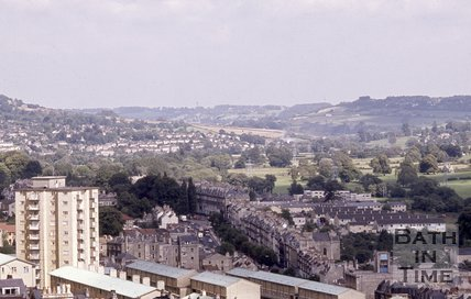 View from Camden to the east of Bath, c.1980s