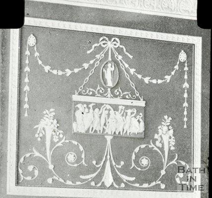 Plasterwork in Rivers Street, Bath, c.1930s?