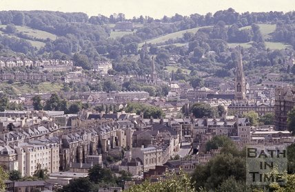 View towards Prior Park from Camden, Bath, c.1980s