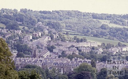 View towards Bathwick Hill from Beacon Hill, Bath, c.1980s