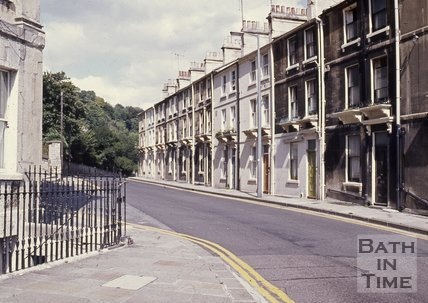 View of Camden Road from Camden Crescent, Bath, c.1960s