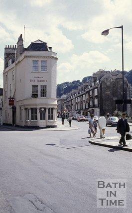 The Talbot Inn, St James Parade, Bath, c.1970s