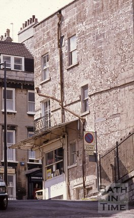 W.T. Cornish Butchers, Lansdown Road on the corner of Ainslie's Belvedere, Bath, c.1970s