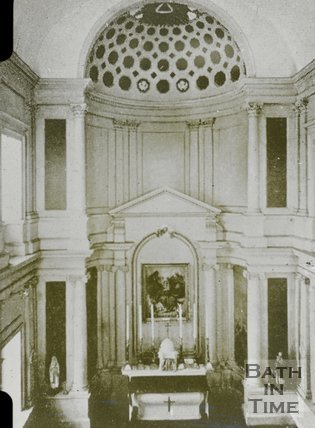 Inside St Peter's chapel, Prior Park, c.1930s