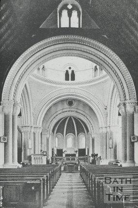 Interior of St Peter's Church, Tewkesbury Road, Cheltenham, c.1960s?