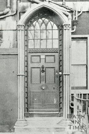 Doorway in Brock Street, Bath, c.1950s?