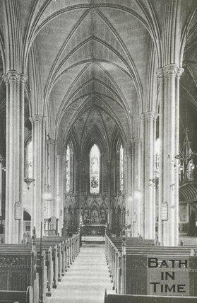 Inside St Michaels without church, Bath, c.1930s?