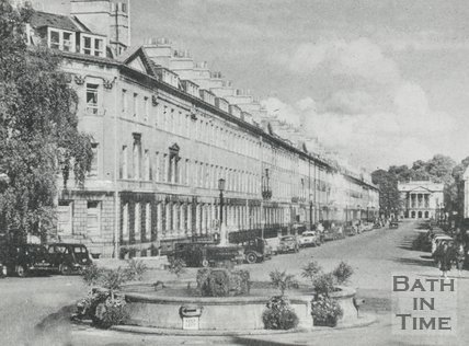 Laura Place and Great Pulteney Street, Bath, c.1950s