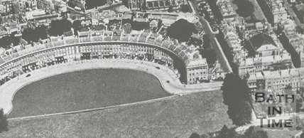 Aerial view of the Royal Crescent, Bath, c.1930s