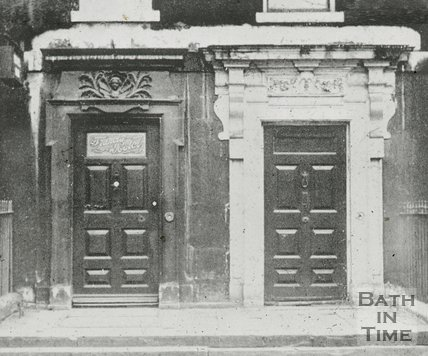 Doorways in Queen Square, Bath, c.1930s?