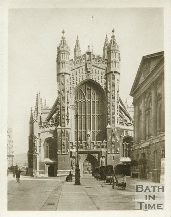 Bath Abbey, west front, c.1910s