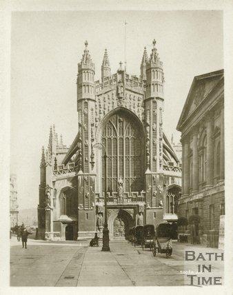 Bath Abbey, west front, c.1910s