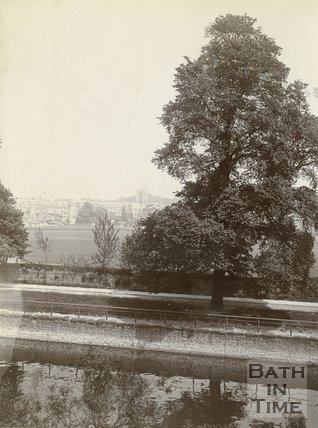 View across the Recreation Ground towards Bathwick, c.1901
