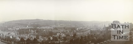 Panorama of Bath from Camden, c.1901