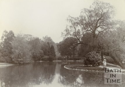 A young girl by the lake at Royal Victoria Park, Bath, c.1901