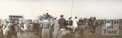 Racegoers at Bath Racecourse, Lansdown, c.1901