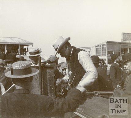 Bookmaker at Bath Races, Lansdown, c.1901