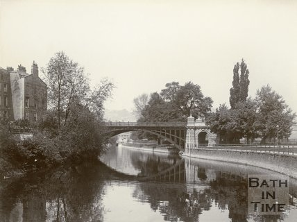 North Parade Bridge looking north, Bath, c.1901