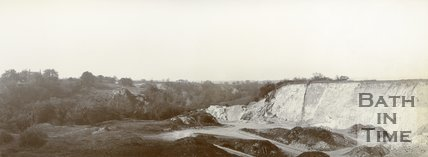 An unidentified stone quarry, possibly at Bathampton Down, c.1901