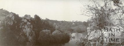 View of a picturesque landscape, possibly Wick Rocks, c.1901