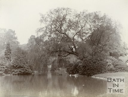 The lake at Royal Victoria Park, Bath, c.1901