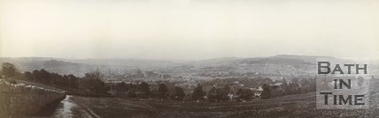 Panoramic view of Bath from the golf course, Bathampton Down, c.1901