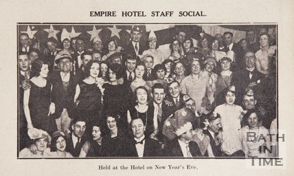Empire Hotel Staff Social at the hotel on New Years Eve, Bath, December 31st 1929