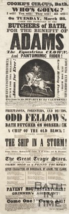 Poster Advertising Cooke's Circus, Bath, March 23 1852