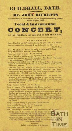 Satirical Election Poster In The Style Of A Concert Program, 1873-4