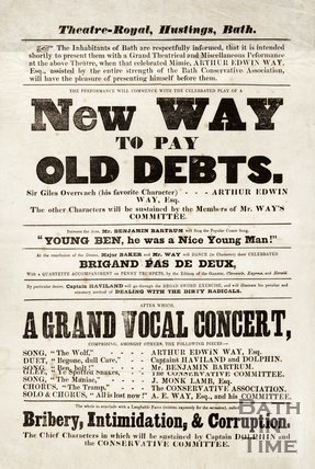 Satirical Election Poster - New Way To Pay Old Debts, 1859