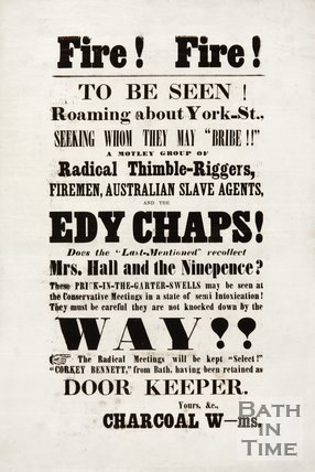Satirical Election Poster - Fire! Fire!, 1859