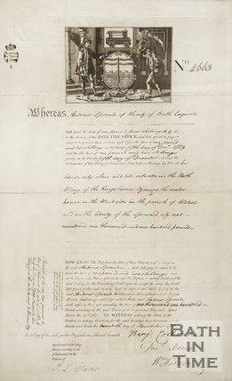 Notice Of Fire Insurance For Andrew Sproule, c.1767