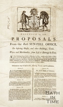 Proposals From The Bath Sun-Fire Office, 1776