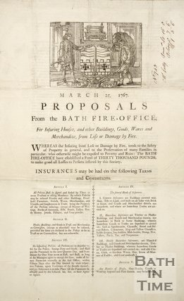 Proposals From The Bath Fire-Office, 1767
