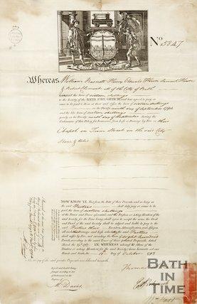 Notice Of Fire Insurance For William Barnett, Henry Edward House, Samuel House, and Robert Clement, 1793