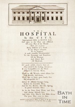 Poster For The Hospital In The City Of Bath, As Inscribed On The Pump At Bath, 1785