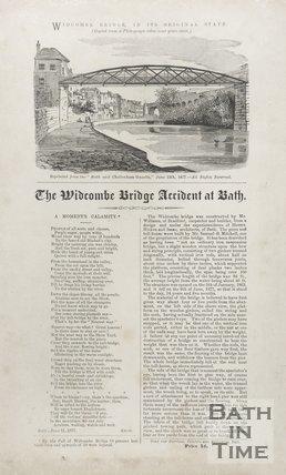 Notice Of Widcombe Bridge Accident At Bath, 1877