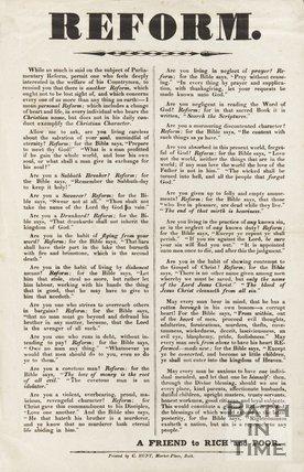 Evangelical Poster For Moral Reform, c.1832?
