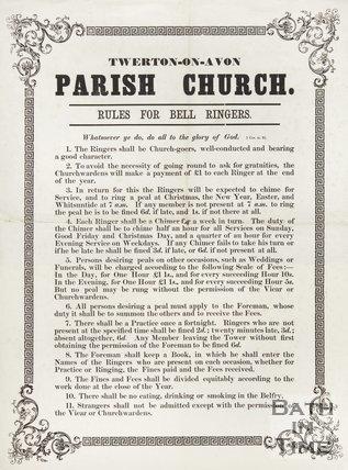 Twerton-on-Avon Parish Church Rules For Bell Ringers