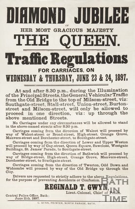 Poster Notifying Of Traffic Regulations For Queen Victoria's Diamond Jubilee, 1897
