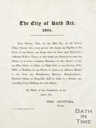 Notice Of The City Of Bath Act, 1851