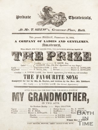 Poster Advertising Private Theatricals, 1835