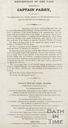 Description Of The Vase Presented To Captain Parry, 1821