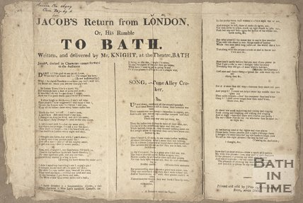 Jacobs Return from London, Or, His Ramble To Bath