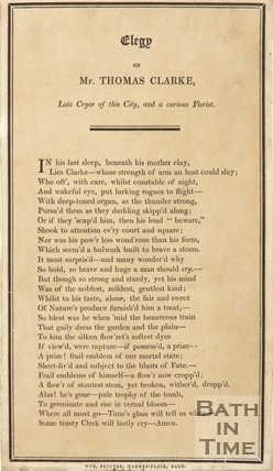 Elegy On Mr. Thomas Clarke, c.1806